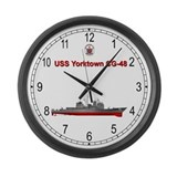 USS Yorktown CG-48 Large Wall Clock