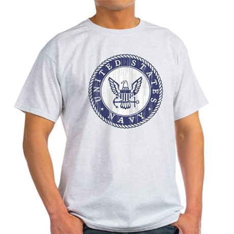 Distressed USN Logo Light T-Shirt