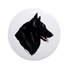 Belgian Shepherd Dog Ornament (Round)
