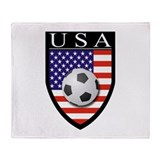 USA Soccer Patch Throw Blanket