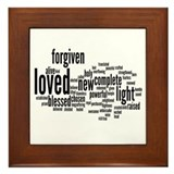 Who I am in Christ Word Collage Framed Tile
