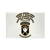 SOF - USAJFKSWCS SSI with Text Rectangle Magnet (1
