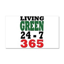 Living Green Car Magnet 20 x 12
