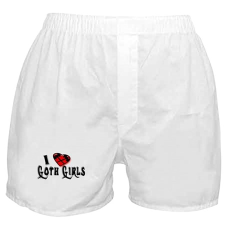 I heart Goth Girls Boxer Shorts