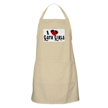 I heart Goth Girls BBQ Apron