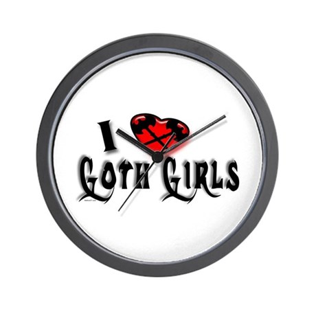 I heart Goth Girls Wall Clock