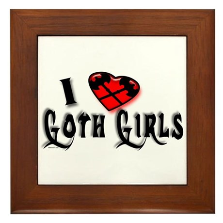 I heart Goth Girls Framed Tile