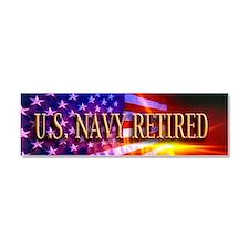 Navy Vet bur Car Magnet 10 x 3