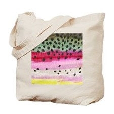 Rainbow Trout Skin Fishing Tote Bag
