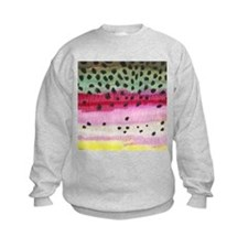 Rainbow Trout Skin Fishing Kids Sweatshirt