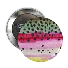 "Rainbow Trout Skin Fishing 2.25"" Button (10 pack)"