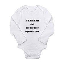 Call Me Long Sleeve Infant Bodysuit