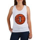 Basketball Player Number 1 Women's Tank Top