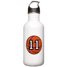 Basketball Player Number 11 Water Bottle