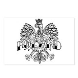 Poland Black Ink Eagle Postcards (Package of 8)
