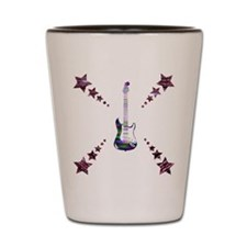 Guitar and Stars Shot Glass