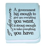 Jefferson Big Government baby blanket