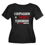 COMPASSION IS NOT TERRORISM - Women's Plus Size Sc