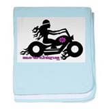 Cute Girl biker baby blanket