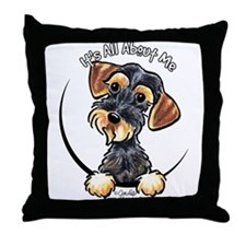 Wild Boar Dachshund IAAM Throw Pillow