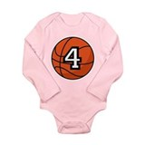 Basketball Player Number 4 Long Sleeve Infant Body