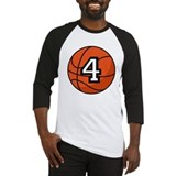 Basketball Player Number 4 Baseball Jersey