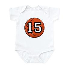 Basketball Player Number 15 Infant Bodysuit