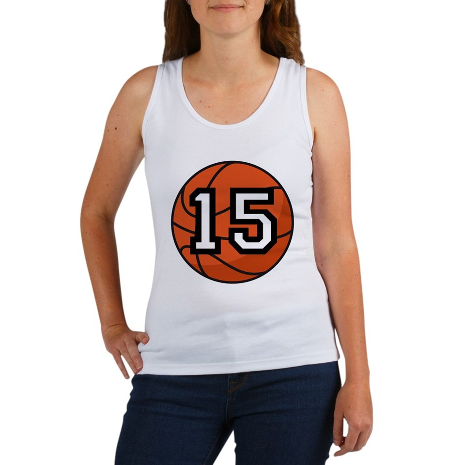Basketball Player Number 15 Womens Tank Top for $24.00
