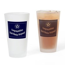 Congratulations USAF Chief Ma Drinking Glass