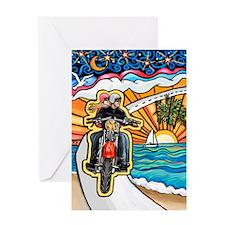 Motorcycle Skyway #1 Greeting Card