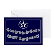 Congratulations Usaf Staff Se Greeting Card