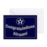 Congratulations on USAF Airma Greeting Cards (Pk o