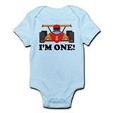 Racing Car 1st Birthday Infant Bodysuit