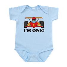 Racing Car 1st Birthday Infant Bodysuit
