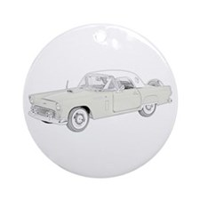 Ford Thunderbird 1956 -colore Ornament (Round)