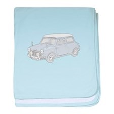 Mini Cooper 1962 -colored baby blanket