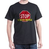 Stop Snitching Black T-Shirt