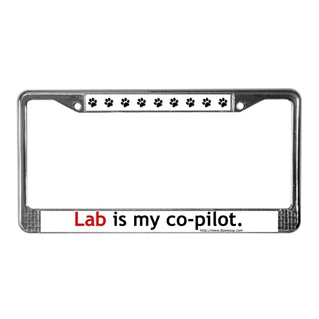 Lab Co-Pilot License Plate Frame