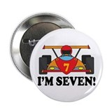 "Racing Car 7th Birthday 2.25"" Button"