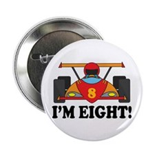 "Racing Car 8th Birthday 2.25"" Button"