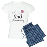 2nd Anniversary Gift Butterfly  Pyjamas