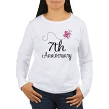 7th Anniversary Gift Butterfly T-Shirt