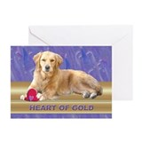 Golden Retriever Note Cards Purple (Pk of 10)