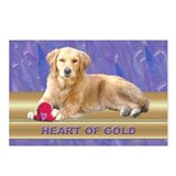 Golden Retriever Postcards Purple (Package of 8)