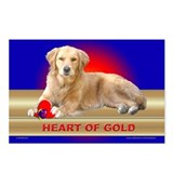 Golden Retriever Postcards Blue (Package of 8)