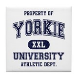 Yorkie University Tile Coaster