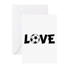 Love Soccer Greeting Cards (Pk of 10)
