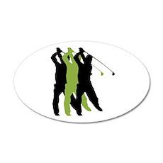 Golf Silhouette 38.5 x 24.5 Oval Wall Peel