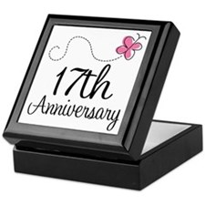 17th Anniversary Gift Butterfly Keepsake Box