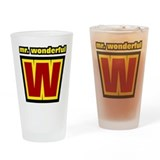 Mr Wonderful Drinking Glass